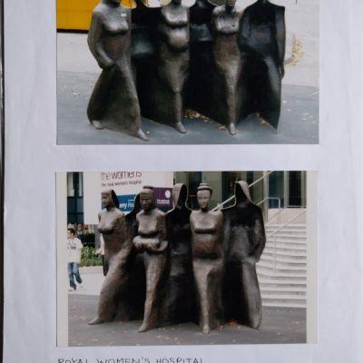 Women's Hospital - Footpath sculpture